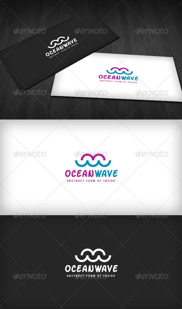 Ocean Wave Logo - Vector Abstract