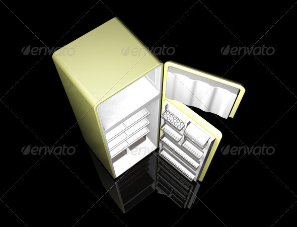 Modern fridge - Objects 3D Renders
