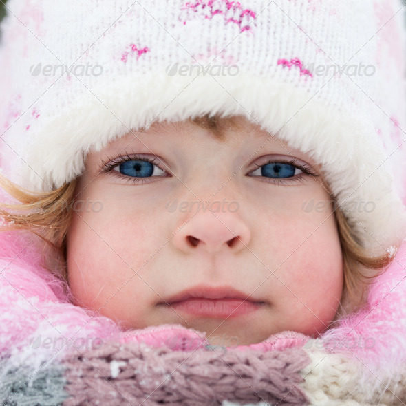 Child in winter - Stock Photo - Images