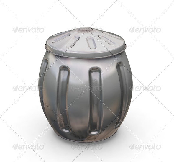 Full trash can - Objects 3D Renders