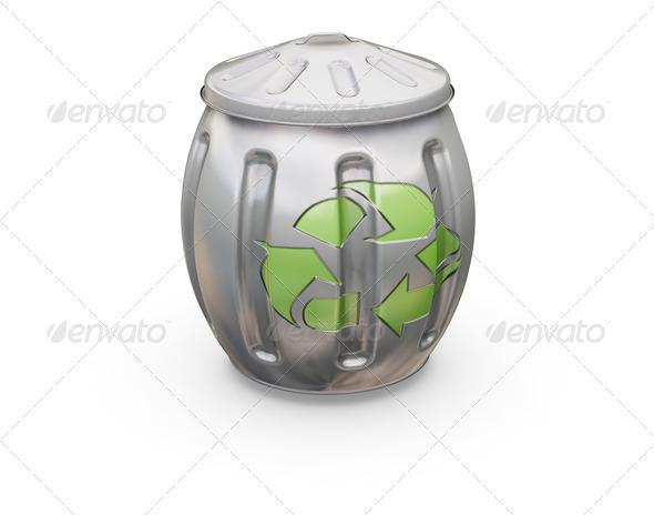 Recycling bin - Objects 3D Renders