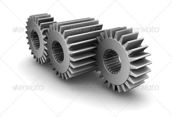 Gears concept - Objects 3D Renders