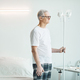 Senior Man in Hospital Room with Iv Support - PhotoDune Item for Sale