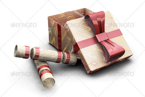 Crackers and gifts - Objects 3D Renders