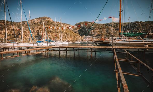 Turkey Sailboat Harbor - Stock Photo - Images