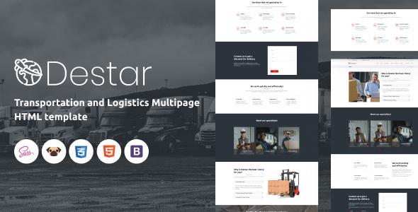 Destar - Transportation and Logistics HTML5 Template