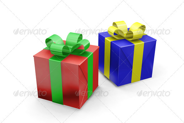 Presents - Objects 3D Renders