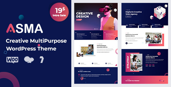Asma - Creative Agency WordPress Theme