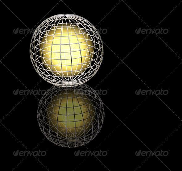 Wireframe globe - Abstract 3D Renders