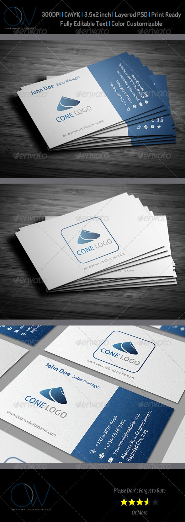 Classic Business Card v4 - Corporate Business Cards