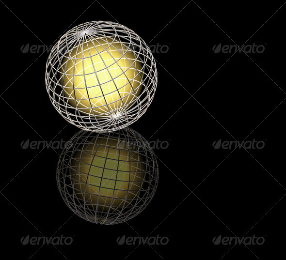 Glowing globe - Abstract 3D Renders