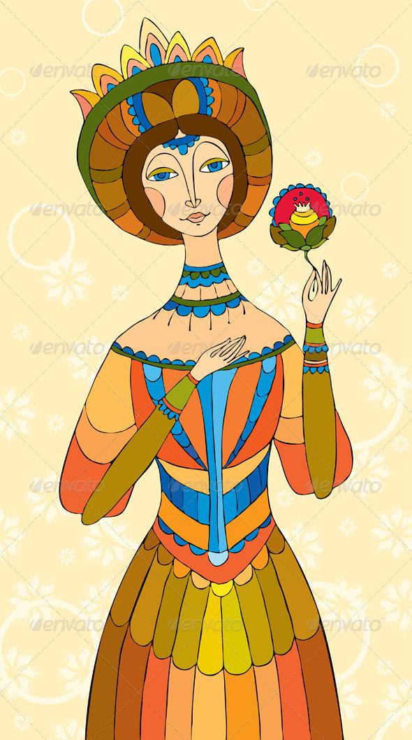 Princess Girl Flower - People Characters