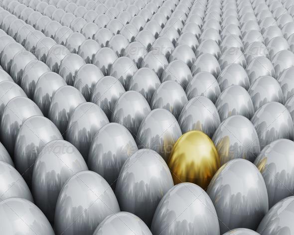 Golden egg - 3D Backgrounds