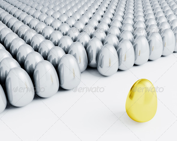Stand out from the crowd - 3D Backgrounds