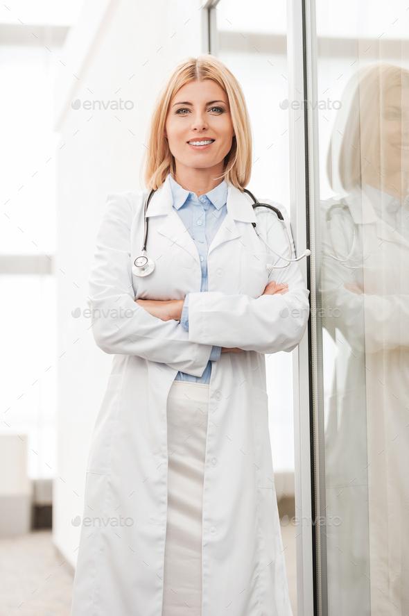 Confident female docto - Stock Photo - Images