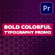 Bold Colorful Typography Promo | Mogrt - VideoHive Item for Sale