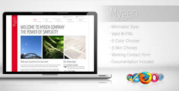 Mygen – Minimalist Business Template 2