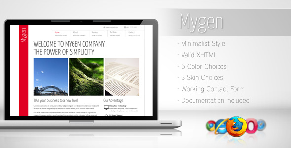 Free Download Mygen - Minimalist Business Template 2 Nulled Latest Version