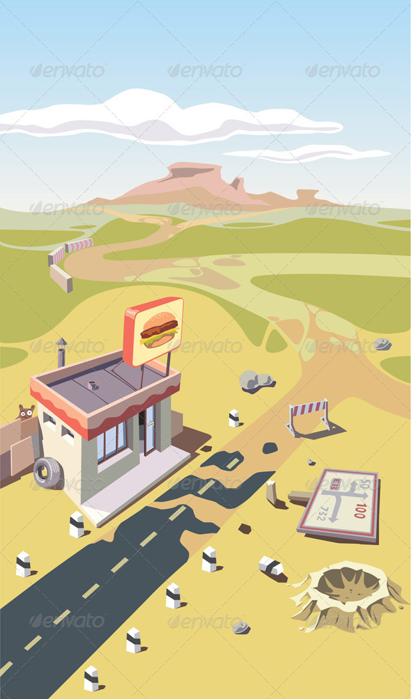 Snack Bar in a Desert - Buildings Objects