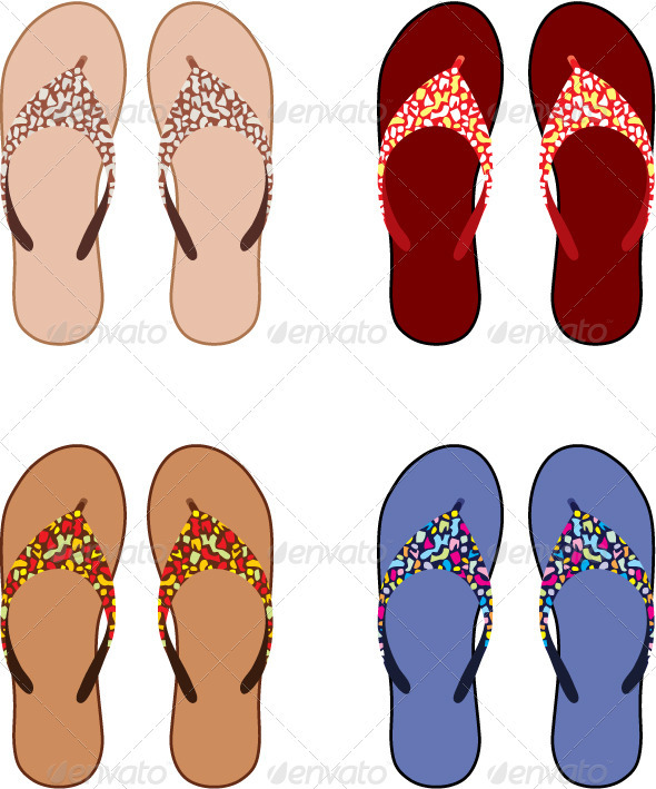 Beach slippers - Conceptual Vectors