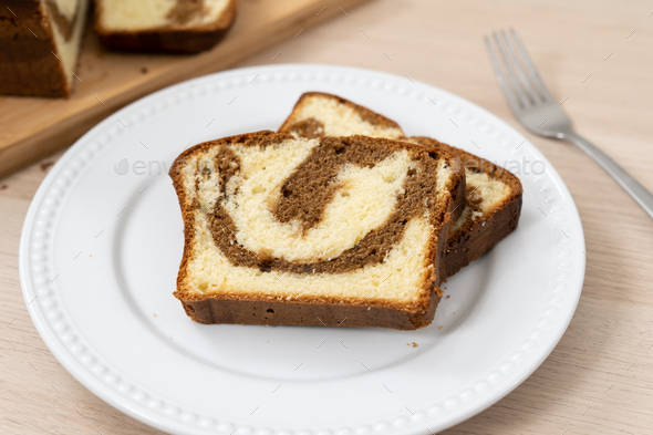 Chocolate, mocha or coffee butter pound cake - Stock Photo - Images