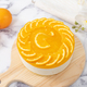 No baked orange cheese cake with fresh oranges decoration - PhotoDune Item for Sale