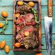 Juicy beef steak with kumquat,top view - PhotoDune Item for Sale