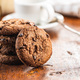 Tasty biscuits with chocolate. Sweet chocolate cookies - PhotoDune Item for Sale