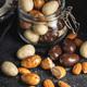 Sweet chocolate almonds. Chocolate eggs in jar. - PhotoDune Item for Sale