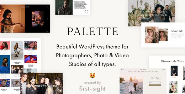Palette - Photography Portfolio WordPress Theme