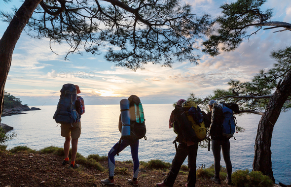 People in hike - Stock Photo - Images