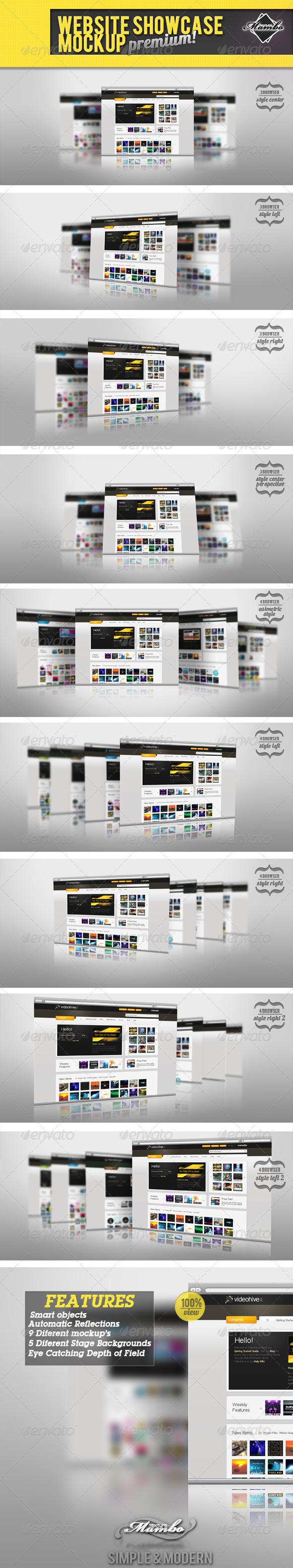 Website Showcase Mockup  - Website Displays