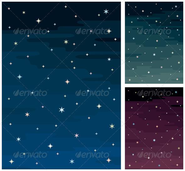 Night Sky - Backgrounds Decorative