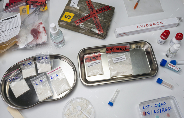 crime lab positive drug test, conceptual image - Stock Photo - Images