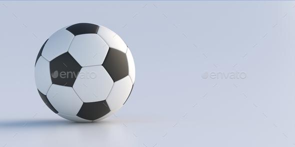 Soccer football. Soccer ball isolated on white background. 3d illustration - Stock Photo - Images