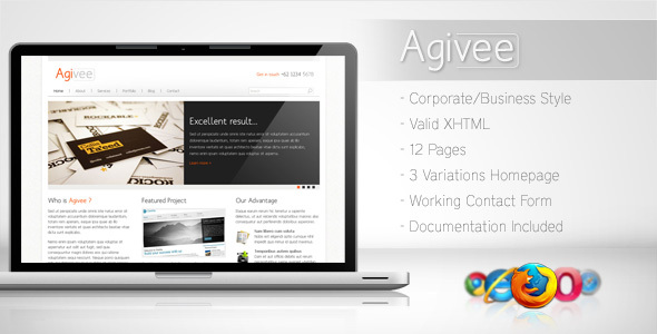 Agivee - Corporate Business Template - Corporate Site Templates