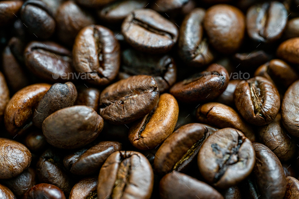 Coffee Beans. Toasted coffe beans texture - Stock Photo - Images