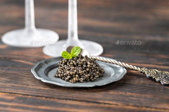 Black caviar - Stock Photo - Images