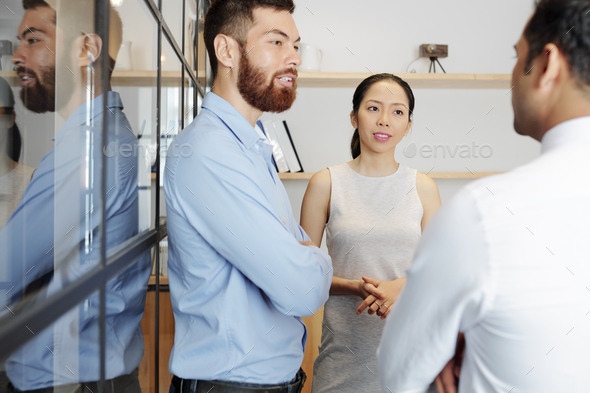 Entrepreneurs attending daily meeting - Stock Photo - Images