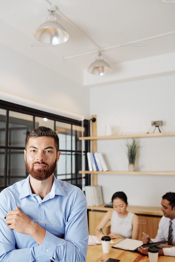 Handsome smiling entrepreneur - Stock Photo - Images
