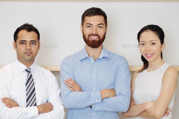 Multi-ethnic successful business team - Stock Photo - Images
