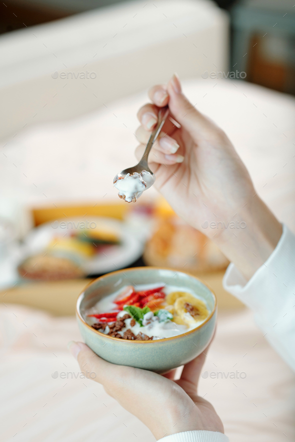 Delicious granola for breakfast - Stock Photo - Images