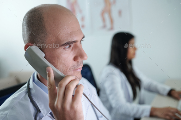 Doctor making video call - Stock Photo - Images