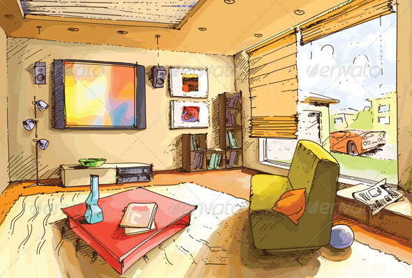 Light Living Room   Buildings Objects Part 42