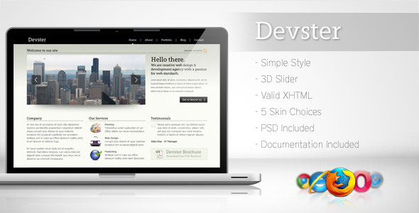 Free Download Devster - Simple Business Template Nulled Latest Version