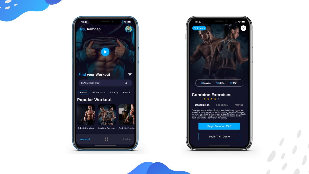 Aqua Workout (Fitness) App v1.0 - Flutter UI Kit using GetX - 3