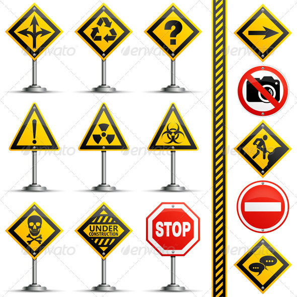 Collection Road Signs - Travel Conceptual