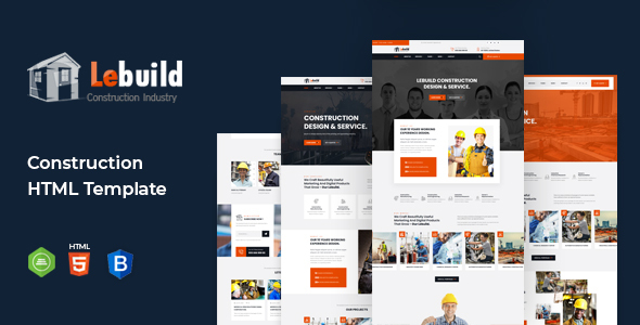 Lebuild - Construction Industry Company HTML Template
