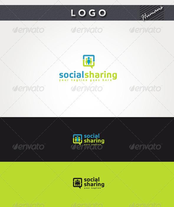Social Sharing Logo - Humans Logo Templates