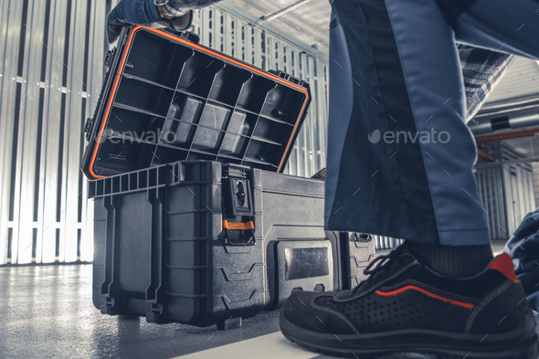 HVAC Worker Tools Box - Stock Photo - Images